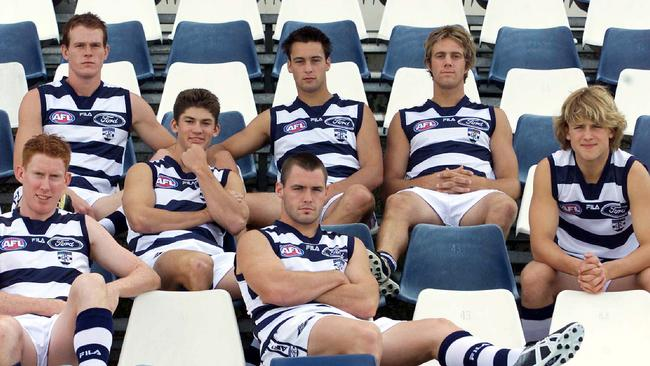 Daniel Foster, Jarad Rooke (Max Rooke), James Bartel (Jimmy Bartel), Joel Corey and Gary Ablett Jr. Front row Cameron Ling and Josh Hunt.