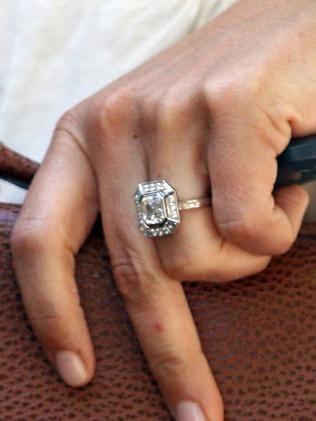 Pippa Middleton's stunning three-carat engagement ring. Picture: Peter Jordan