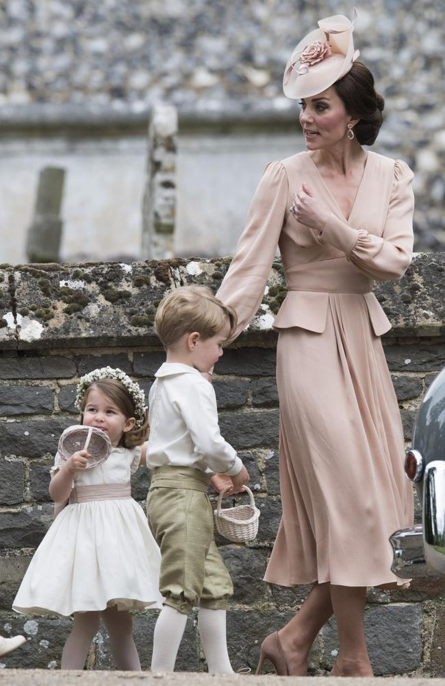 Princess Charlotte and Prince George at Pippa Middleton's wedding. Picture: Arthur Edwards/Getty.