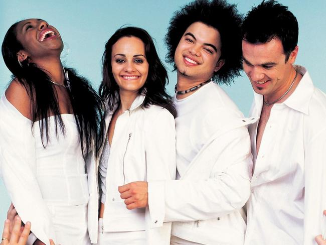 Better days: When Paulini and Cosima were friends and all-white outfits weren't funny.