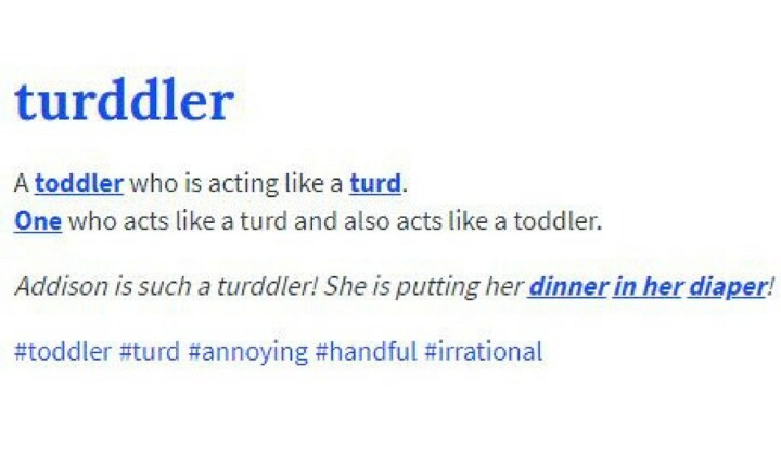 <b>TURDDLER.</b> Because one day they will act like a turd ... it's a certainty.