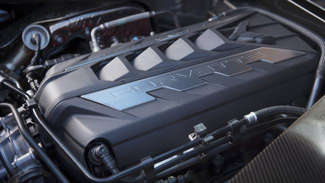 The Corvette is powered by a reworked 6.2-litre V8.
