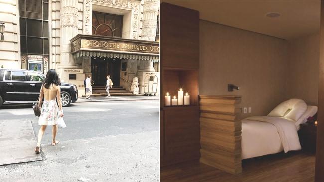 Image 1: Juna Xu; Image 2: Supplied. The Peninsula Spa NYC.