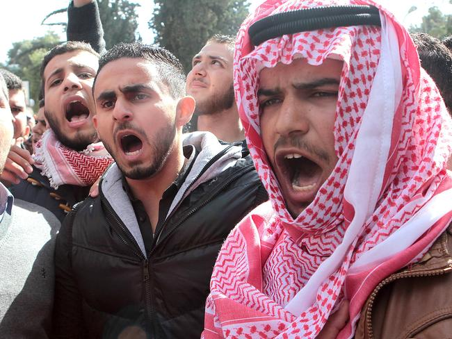 Revenge ... Many Jordanians who were against their country joining the US in airstrikes against the Islamic State now support it. Picture: AFP/ STR