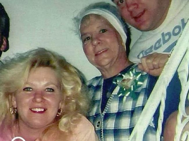 Mike Carroll's mum, centre, died in 1998. Picture: Facebook
