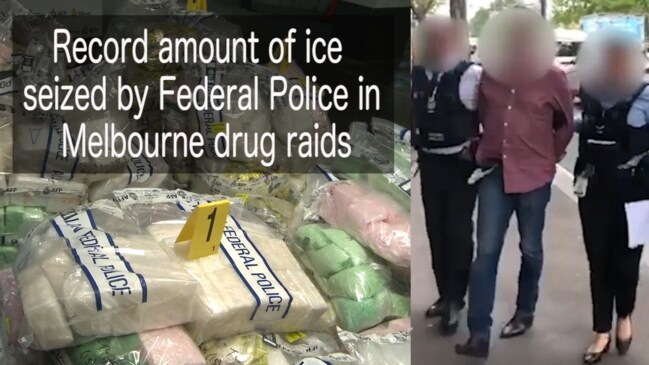 Record amount of ice seized by Federal Police in Melbourne drug raids