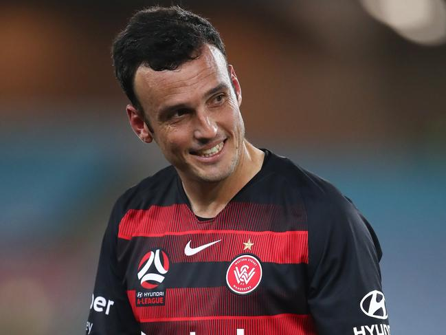 Wanderers striker Mark Bridge played his final game before retirement. Picture: AAP