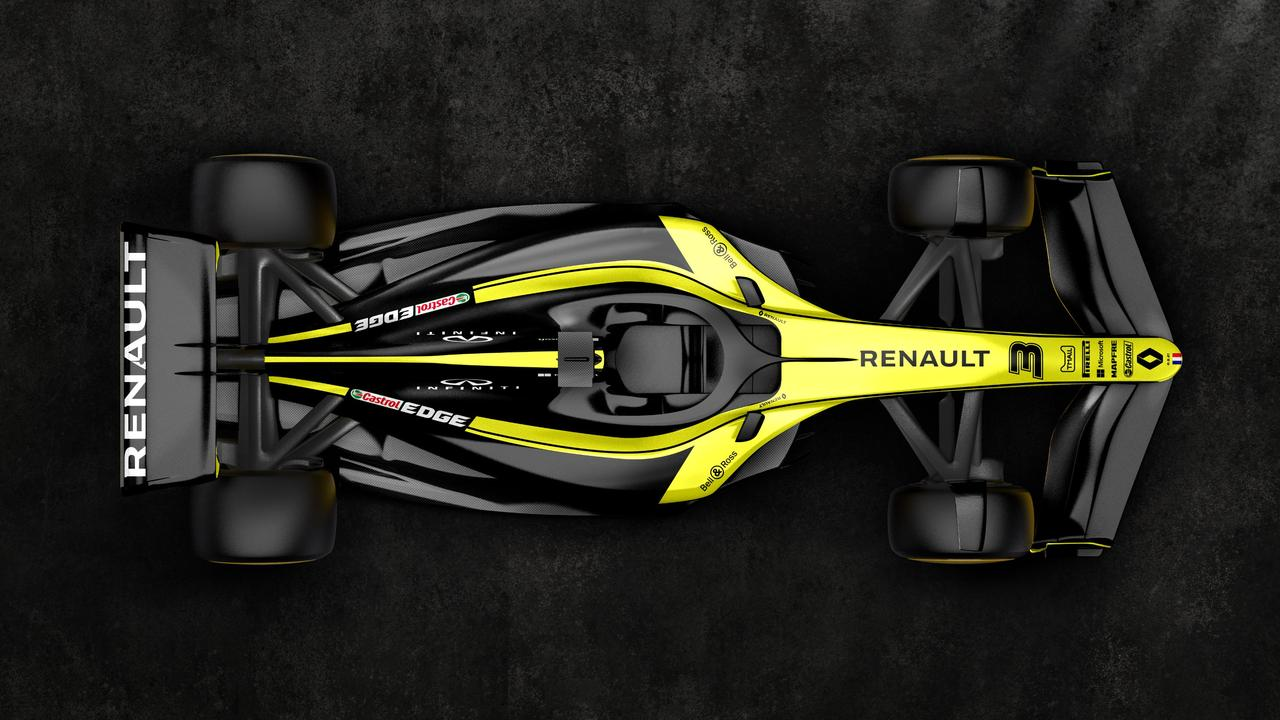 A top view of the 2021 car in Renault colours. Picture: @RenaultF1Team