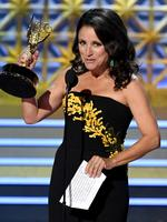 Julia Louis-Dreyfus accepts Outstanding Lead Actress in a Comedy Series for 'Veep' onstage during the 69th Annual Primetime Emmy Awards at Microsoft Theater on September 17, 2017 in Los Angeles, California. Picture: Getty