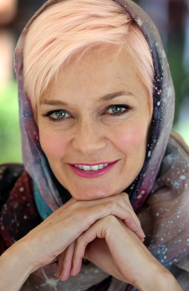Jessica Rowe wears a hijab in support of the #WISH campaign.