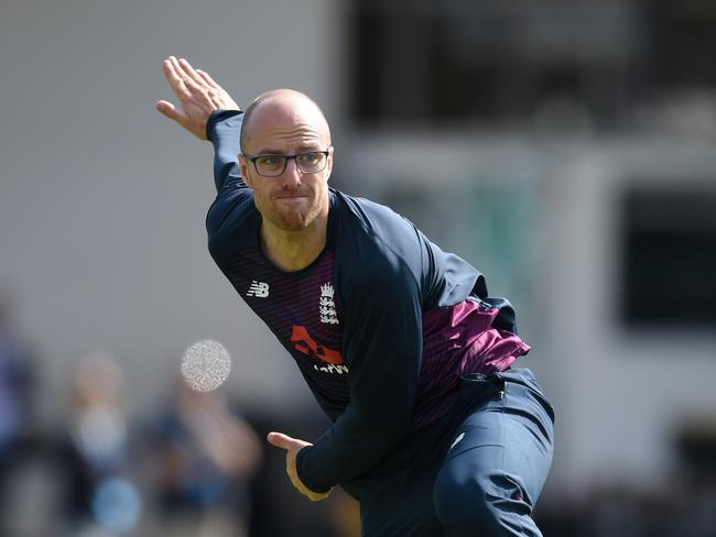 Jack Leach will take on the job of trying to get Steve Smith out.