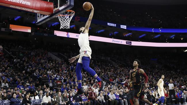 Something a little more familiar from big Ben during the Sixers domination of Cleveland. Picture: AP