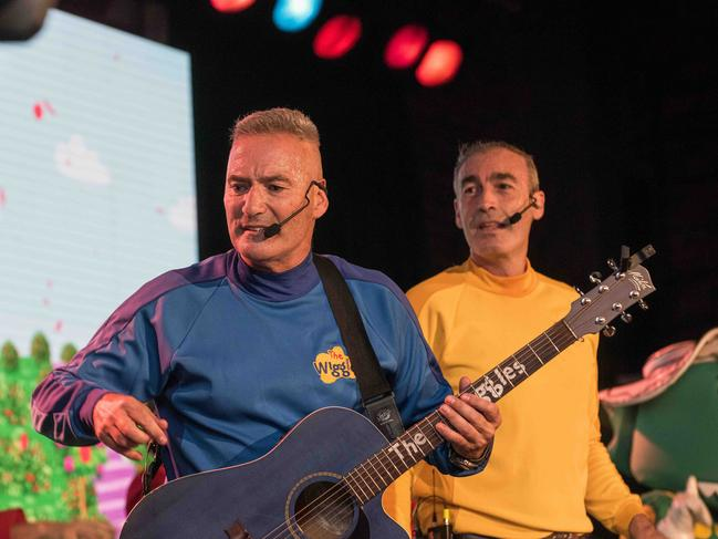 The Wiggles reunited for a bushfire relief concert at Castle Hill RSL Club. Picture: Daily Telegraph/Flavio Brancaleone