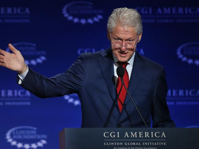 Former US President Bill Clinton has defended the foundation's work. Picture: Brennan Linsley