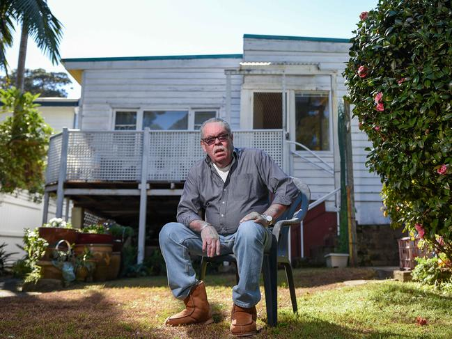 Lee Carroll at 23 Cliff St, Watsons Bay, which has been owned by his family for 95 years. Picture: Flavio Brancaleone