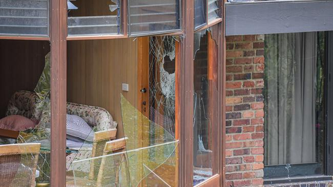 The extensive damage at the home. Picture: Jason Edwards