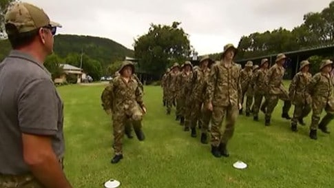 Young children who have a digital addiction are being sent to a military-style bootcamp. Picture: Seven News