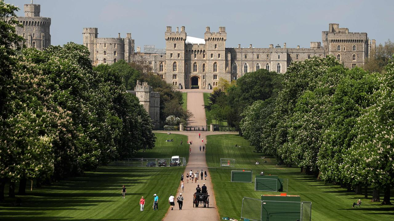 Windsor Castle's Long Walk, which will be the last part of the carriage parade after Prince Harry and Meghan Markle's wedding ceremony. Picture: AFP