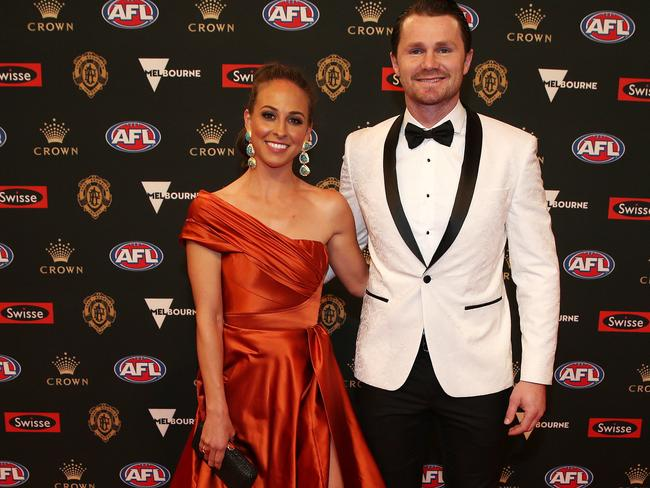 Geelong's Patrick Dangerfield and wife Mardi.