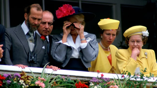 The very fashionable family on a royal visit in the 90s. Image: GETTY.