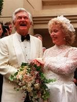 Former PM Bob Hawke and Blanche D'Alpuget after wedding in Sydney in 1995.