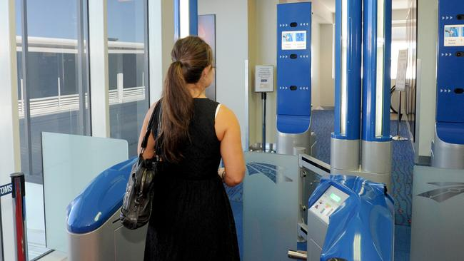 Australians are now able to use ePassport gates, also known as SmartGates, at British airports. Picture: Elise Derwin
