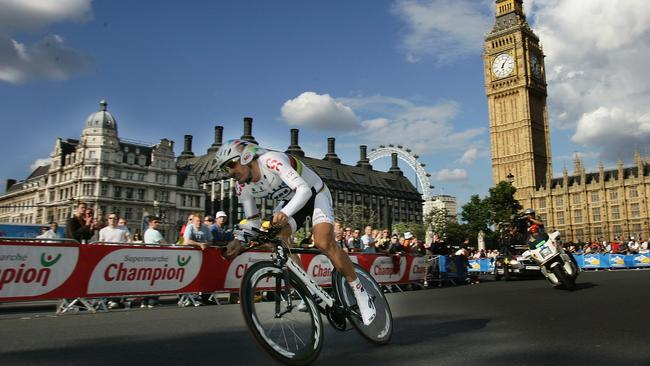 Swiss gun Fabian Cancellara took the yellow jersey the last time the tour visited London.