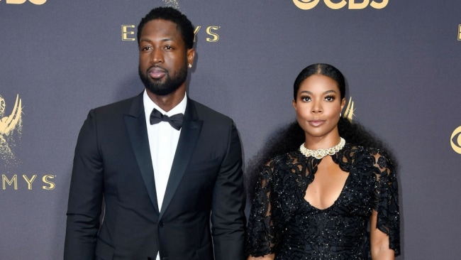 Dwayne Wayde and Gabrielle Union at the 2017 Emmys. Photo: Getty