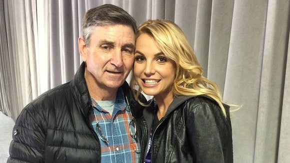 Britney Spears and her dad, Jamie.
