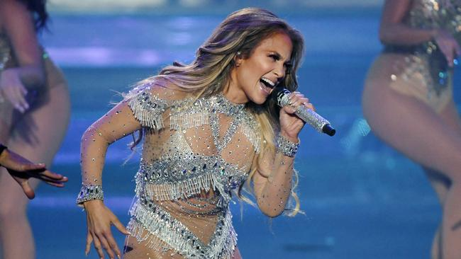Jennifer Lopez performs at Planet Hollywood in Las Vegas. Picture: Ethan Miller/Getty Images for Caesars Entertainment