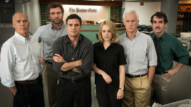 Gripping story ... Spotlight is based on true events about a newspaper exposing child abuse. Picture: AP