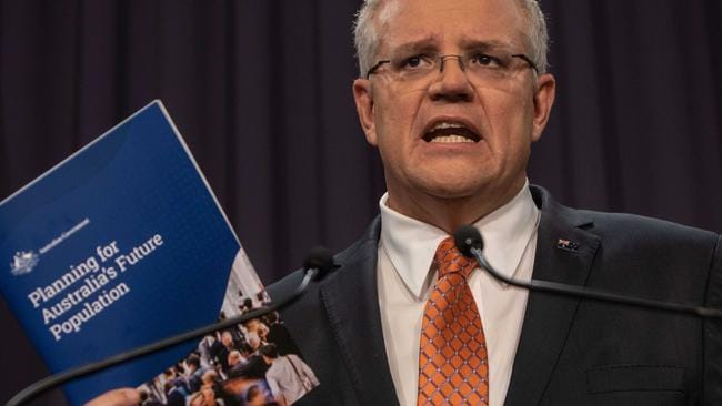 Prime Minister Scott Morrison has said Australia will lower its migration intake to 160,000 people annually. Picture: AAP Image/Andrew Taylor.