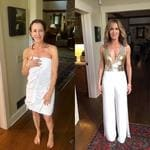 """Felicity Huffman ... """"How's this for a before and after?? #GoldenGlobes, here we come!"""" Picture: Instagram"""