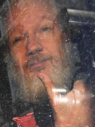 The Australian founder of Wikileaks was arrested yesterday after the Ecuadorian embassy invited police inside. Picture: Victoria Jones