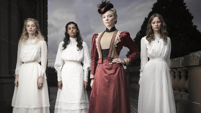 Samara Weaving, Madeleine Madden, Natalie Dormer and Lily Sullivan wow in Picnic At Hanging Rock. Picture: Ben King/ Foxtel