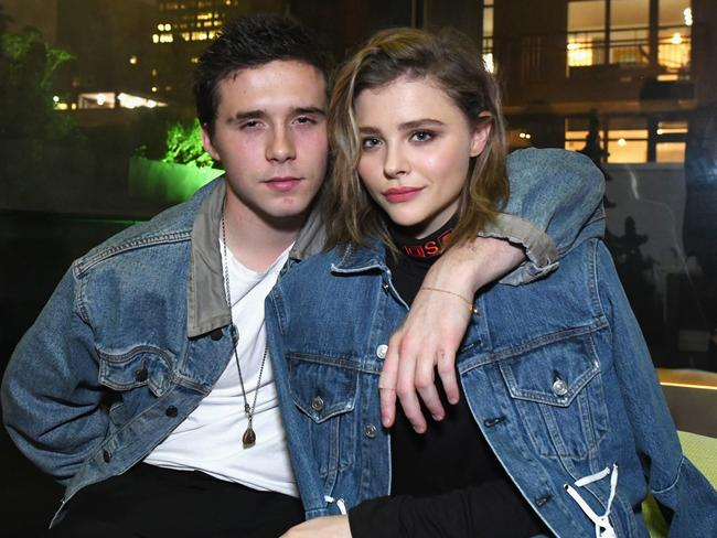 Chloe Grace Moretz, with boyfriend Brooklyn Beckham, has pulled out of promoting the movie. Picture: Getty