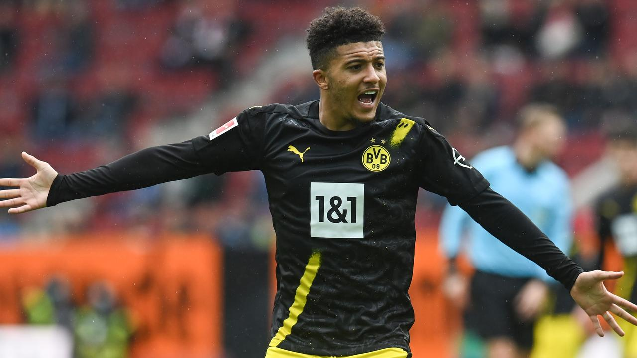 Dortmund's Jadon Sancho is staying put for now. (Photo by CHRISTOF STACHE / AFP)