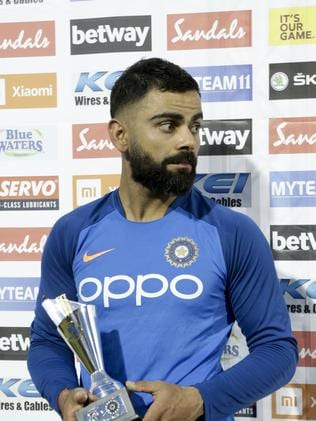 Kohli's only worry seems to be where to put his latest trophy.