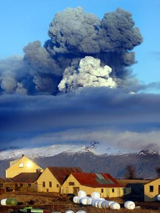 The 2010 eruption of Iceland's Eyjafjallajokull sent ash into the air.