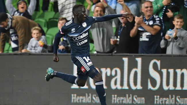 Thomas Deng is fit and ready to lead the Olyroos. Picture: AAP Images