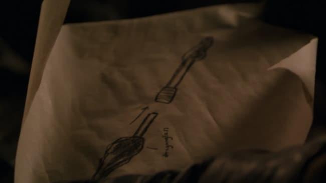 Arya's weapon. Image: HBO