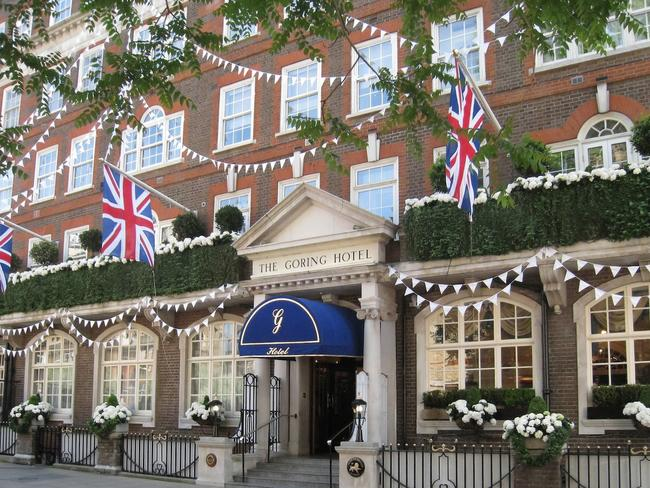 The Goring Hotel is in the heart of London, just a few minutes from Westminister Abbey. Picture: Supplied