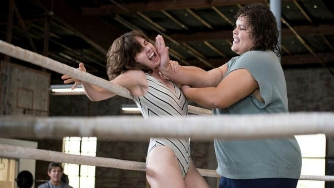Ruth and Carmen (Brittany Young) in 'GLOW'. Photo: Netflix
