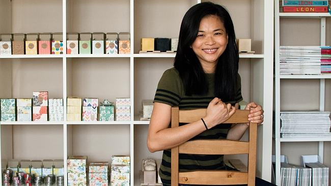 Producing handmade soaps to customers worldwide ... Amy Ta of Seventh Tree Soaps.
