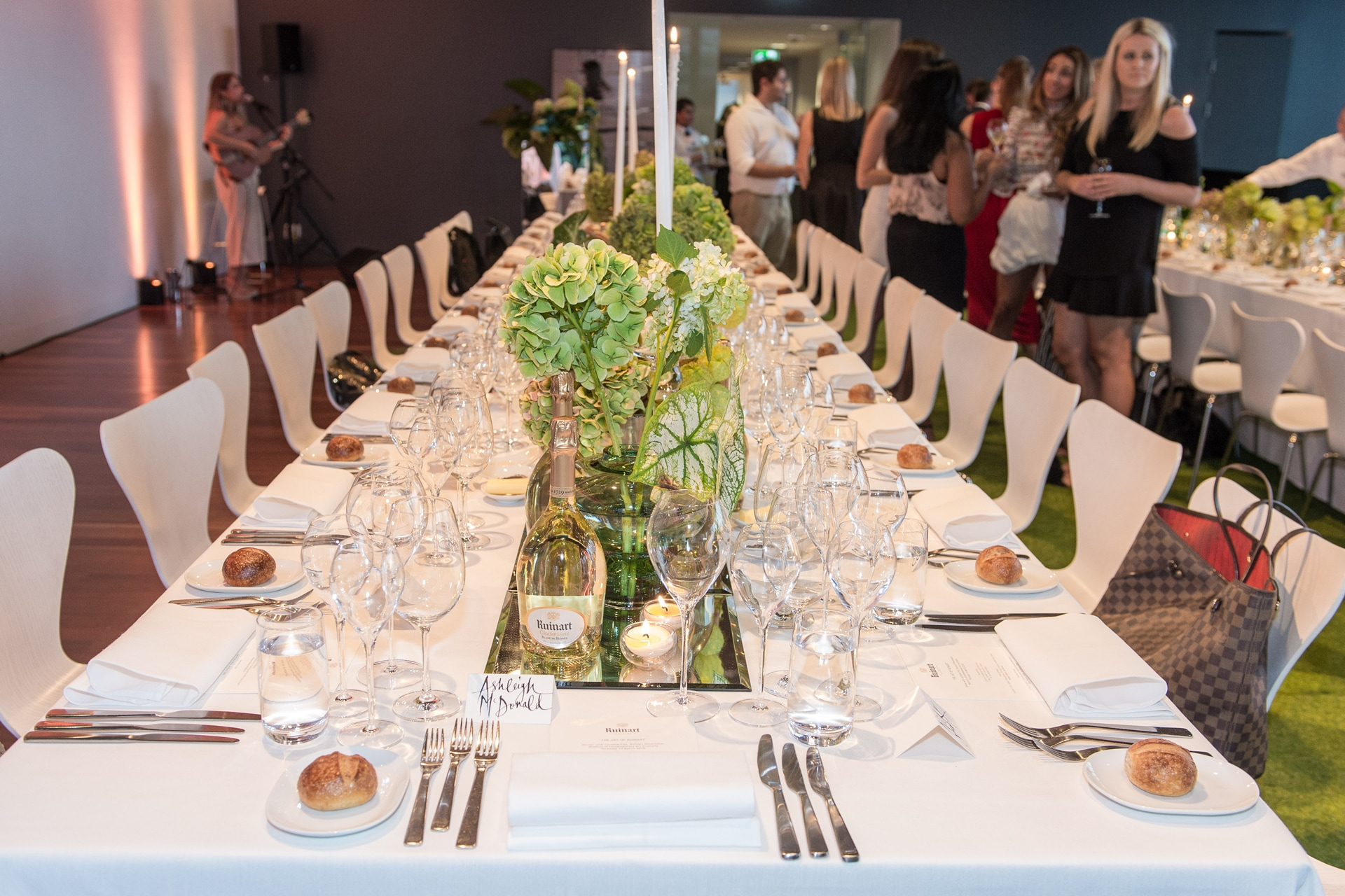 Inside the Ruinart dinner at the Museum of Contemporary Art Australia