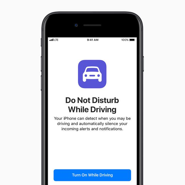 Apple added an automatic feature to silence notifications while driving in iOS 11.