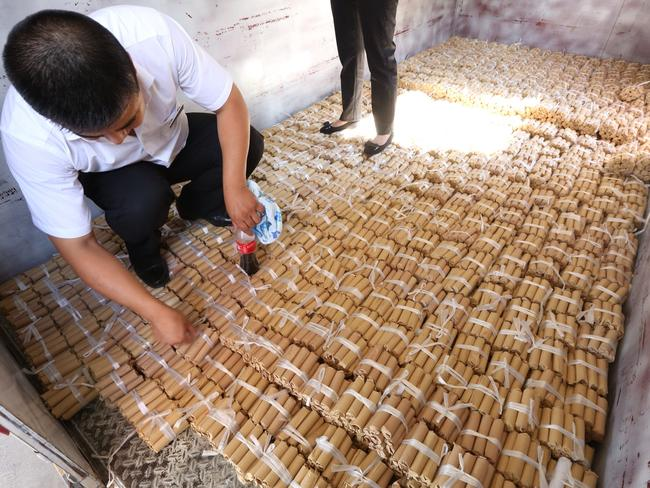 The coins weighed four tonnes all together.