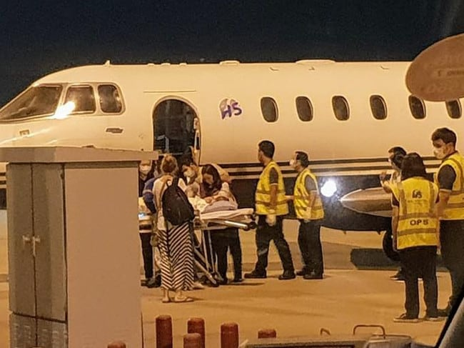 The baby girl was flown to Bangkok from Phuket.
