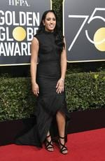 Simone Alexandra Johnson arrives for the 75th Golden Globe Awards on January 7, 2018, in Beverly Hills, California. Picture: AFP PHOTO / VALERIE MACON