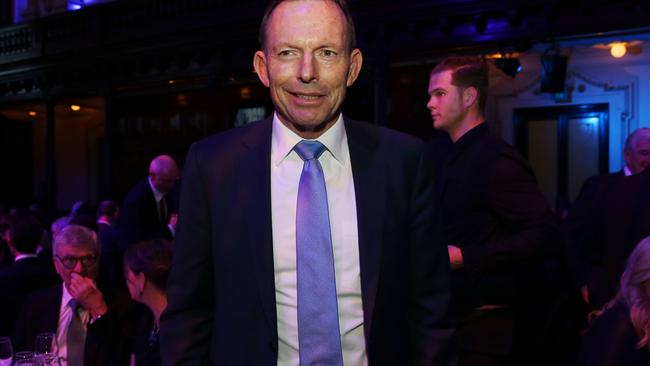 Tony Abbott at the Lowy Institute dinner at Sydney Town Hall last week. Pic: Jane Dempster/The Australian